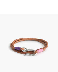J.Crew Caputo Cotm Triple Wrap Leather Bracelet
