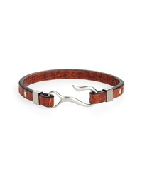 Nordstrom Men's Shop Embossed Leather Hook Bracelet
