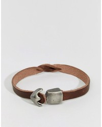 Jack and Jones Jack Jones Leather Bracelet With Hook Fastening