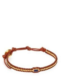 Lapis natural leather bracelet medium 635396