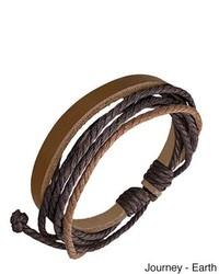 Overstock Genuine Leather Journey Bracelet