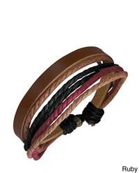 Overstock Genuine Leather Multicolor Bracelet