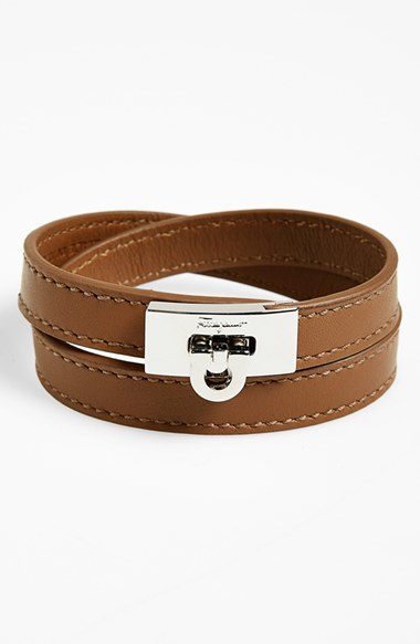 Salvatore Ferragamo Leather Wrap Bracelet