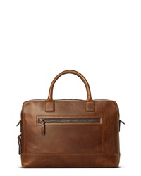 Shinola Bedrock Navigator Leather Briefcase