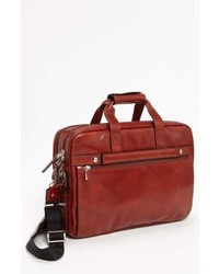 Bosca Double Compartt Leather Briefcase