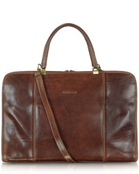 Double handle leather briefcase medium 719073