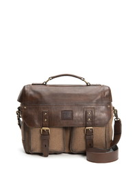 Frye Ethan Canvas Leather Briefcase