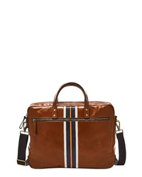Fossil Haskell Leather Briefcase