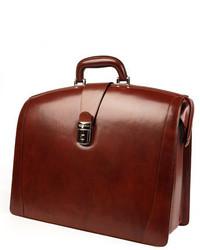 Triple compartt leather briefcase brown medium 3677982