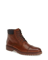 J & M 1850 Karnes Brogue Cap Toe Boot