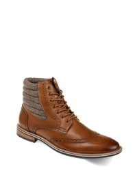 THOMAS AND VINE Apollo Quilted Wingtip Boot