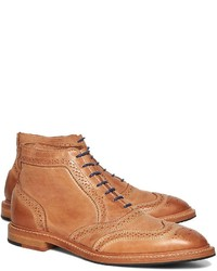 45754170b6f ... Brooks Brothers Leather Perforated Contrast Boots