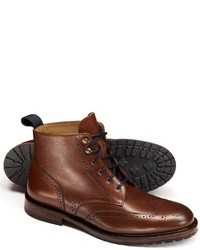 Brown Chesterton Lace Up Brogue Boots