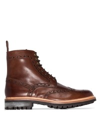 Grenson Fred Brogue Lace Up Boots