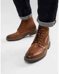 eb31c6e773c59 Men's Brogue Boots by Base London | Men's Fashion | Lookastic.com