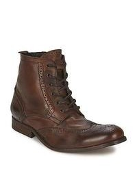 Hudson Angus Tan Low Ankle Boots