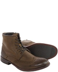 Steve Madden Lanter Boots Leather Wingtip