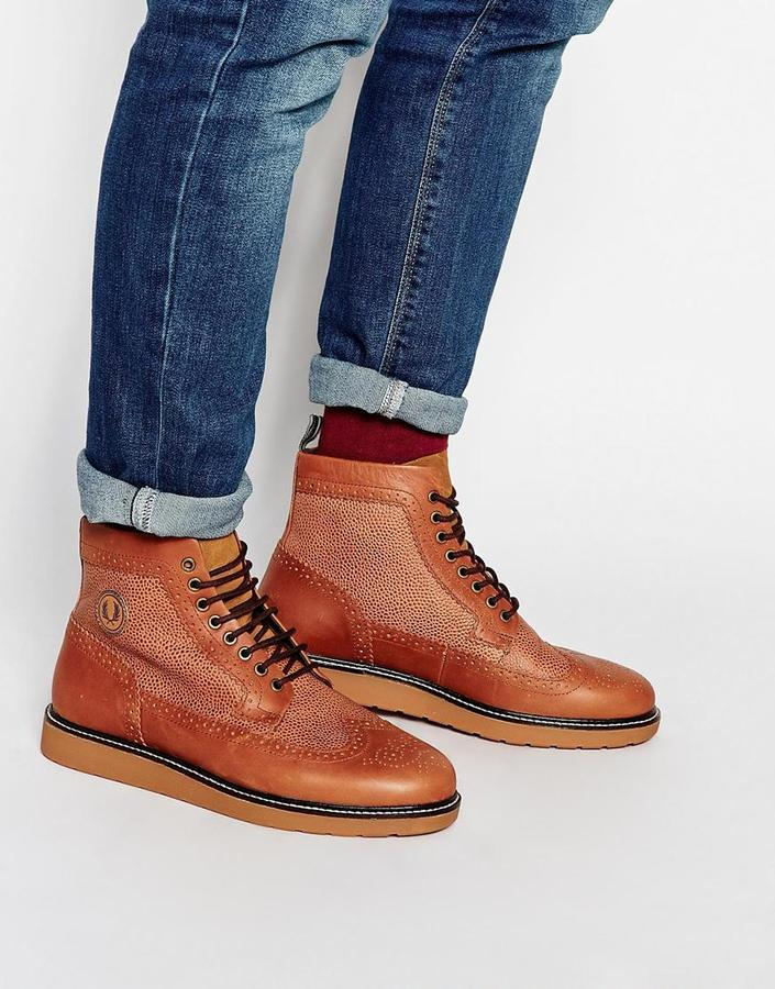 132d4697c49 $190, Fred Perry Northgate Leather Brogue Boots