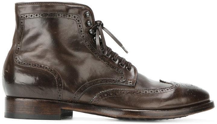 Officine creativePrinceton 036 brogue boots W6iML1tP