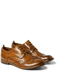 Officine Creative Anatomia Glossed Leather Brogues