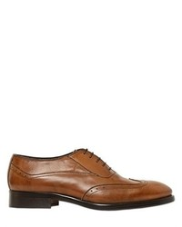 Brogue Leather Oxford Lace Up Shoes