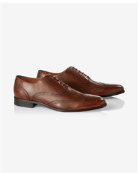 Express Brown Leather Wingtip Oxford