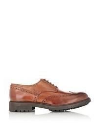 Barneys New York Burnished Wingtip Bluchers Brown Size 9