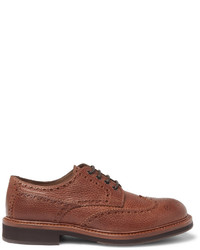 Brunello Cucinelli Full Grain Leather Wingtip Brogues