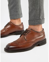 Selected Homme Leather Brogue Shoe