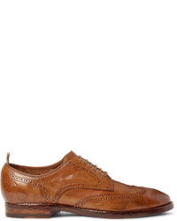 Officine Creative Princeton Washed Leather Wingtip Brogues
