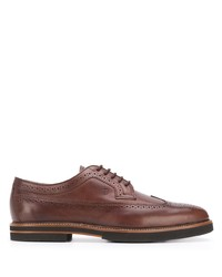 Tod's Striped Heel Oxford Shoes