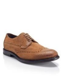 Hugo Boss Uranos Suede Brogue Casual Shoes 10 Brown