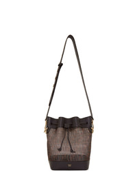 Fendi Brown Mesh Small Forever Mon Tresor Bag