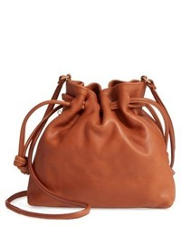 Clare Vivier Clare V Petit Henri Leather Bucket Bag Green