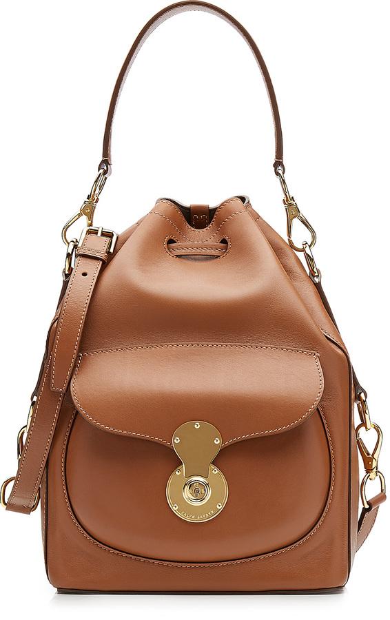 aa4495c9ec09 ... Bags Ralph Lauren Collection Ricky Leather Bucket Bag ...