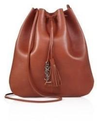Saint Laurent Jen Medium Leather Bucket Bag