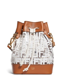 Fendi Mon Tresor Logo Transparent Bucket Bag