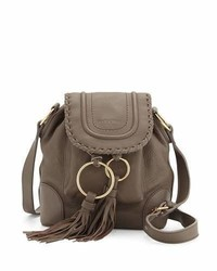 Polly leather flap bucket bag medium 826487