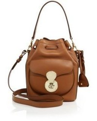 Ralph Lauren Ricky Small Leather Bucket Bag