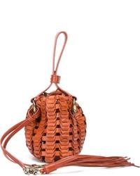 Roberto Cavalli Braided Bucket Handbag