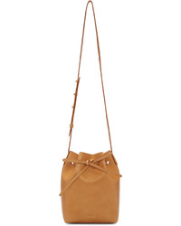 Tan leather mini bucket bag medium 1139560