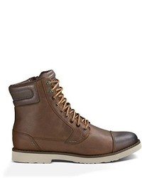 Brown Leather Casual Boots