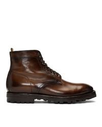 Officine Creative Brown Aspen 005 Boots