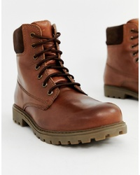 Pier One Chunky Lace Up Boots In Brown