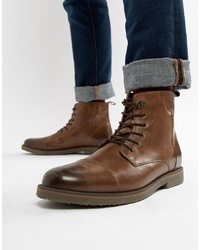 Pier One Fleece Lined Lace Up Boots In Tan