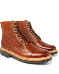 Grenson Joseph Cap Toe Burnished Leather Boots