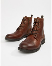 Selected Homme Leather Lace Up Boot
