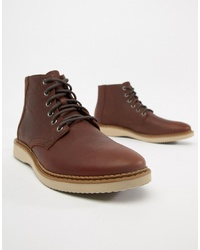 Toms Porter Water Resistant Lace Up Boots In Brown