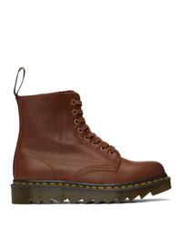 Dr. Martens Tan 1460 Ziggy Pascal Lace Up Boots