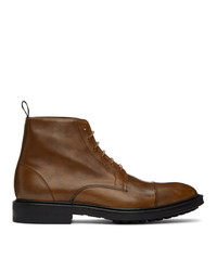 Paul Smith Tan Cubitt Wingtip Boots